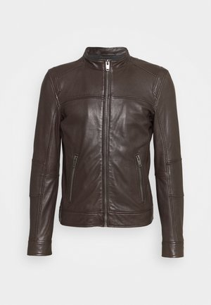 DUBLIN - Leather jacket - brown