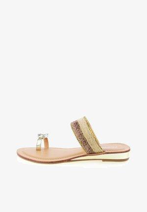 LAGGIO - Sandály s odděleným palcem - gold