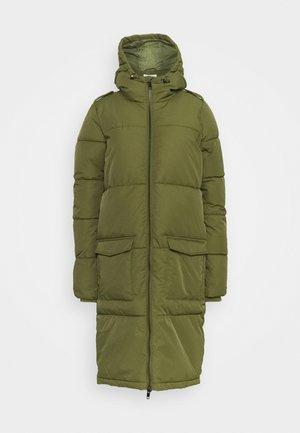 OBJZHANNA LONG JACKET - Zimní kabát - burnt olive