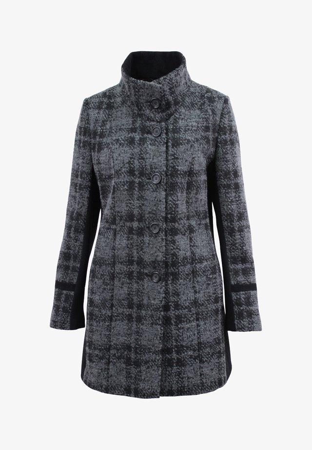 Classic coat - grau-schwarz gemustertert