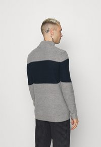 Brave Soul - REINOLD - Jumper - silver grey marl/ french navy - 2
