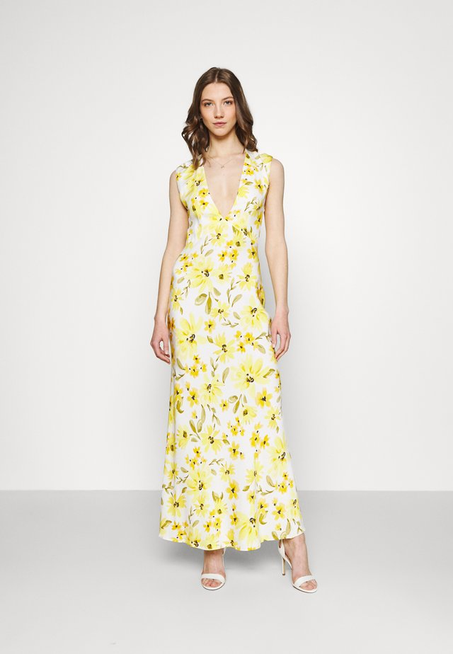 DAPHNE MIDI DRESS - Maxikjoler - white/yellow
