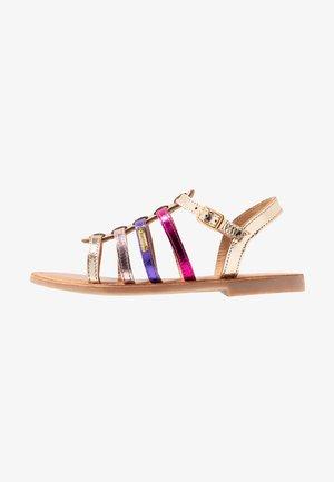 MONGUE - Sandals - gold/multicolor