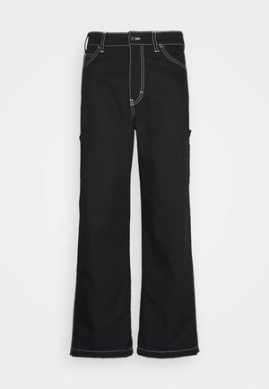 SAIMAA UNISEX - Spodnie materiałowe - black
