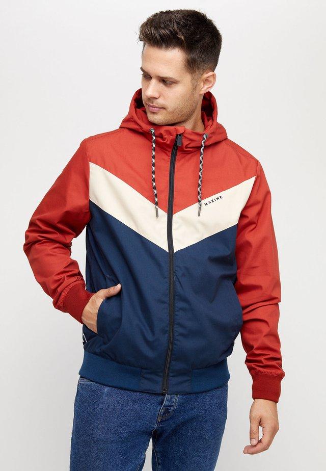 DUNS - Light jacket - red/navy