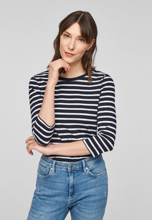 MIT RINGELMUSTER - Long sleeved top - dark blue stripes
