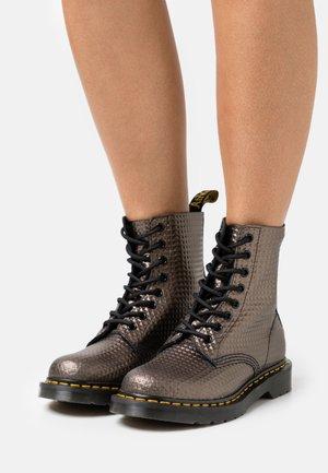 1460 PASCAL - Platform ankle boots - gunmetal