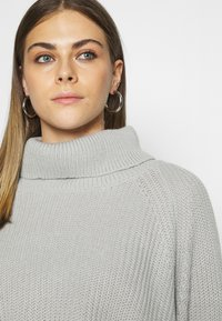 Missguided - ROLL NECK BATWING CROP JUMPER - Jumper - grey - 5