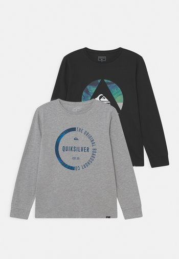 TRIANGLE BUNDSY TEE 2 PACK - Maglietta a manica lunga - athletic heather/black