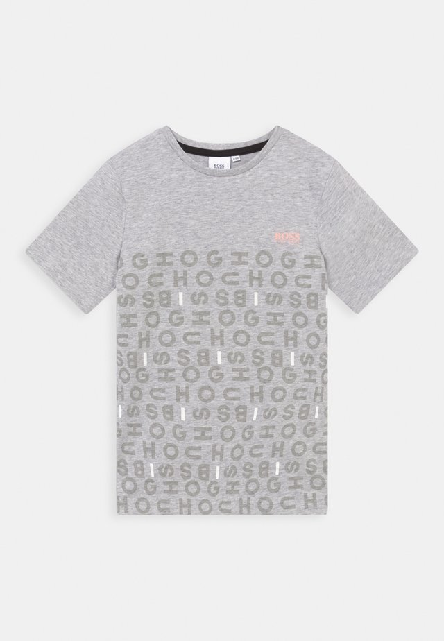 SHORT SLEEVES TEE - Camiseta estampada - chine grey