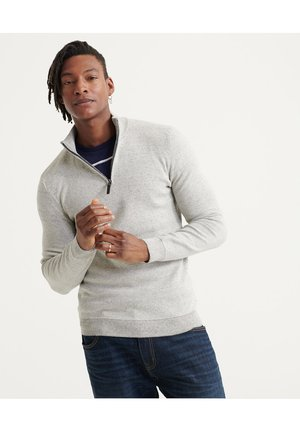 SUPERDRY ORANGE LABEL COTTON HENLEY JUMPER - Jumper - shale feeder