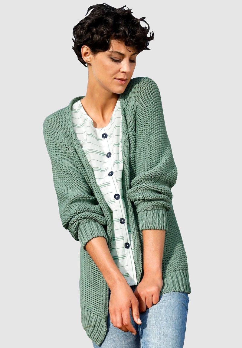 Dress In - Cardigan - salbeigrün