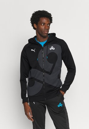 CLOUD REPLICA HOODIE - Zip-up sweatshirt - black/gray/violet