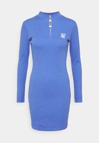 SIKSILK - VELOCITY BODYCON DRESS - Vestido de punto - blue - 0