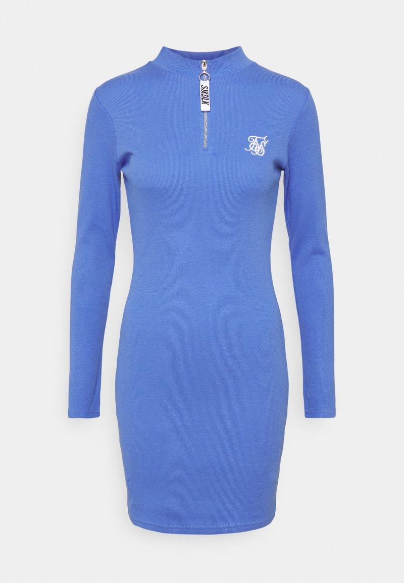 SIKSILK - VELOCITY BODYCON DRESS - Vestido de punto - blue