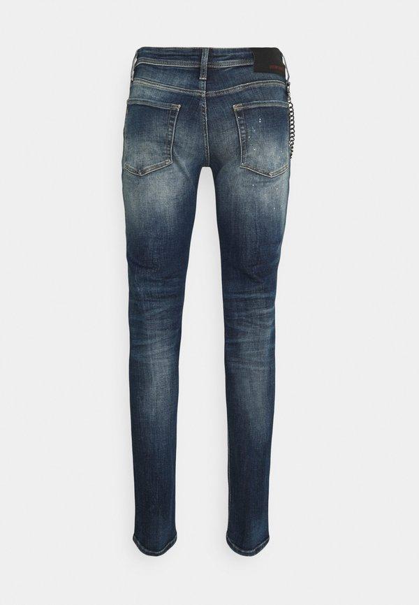 Antony Morato IGGY TAPERED FIT IN CROSS STRETCH - Jeansy Slim Fit - blue denim/niebieski Odzież Męska SLWP
