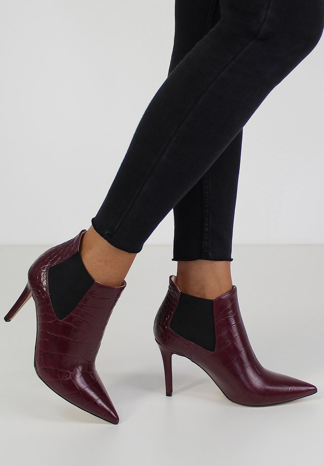 NATALIA - High heeled ankle boots - bordeaux