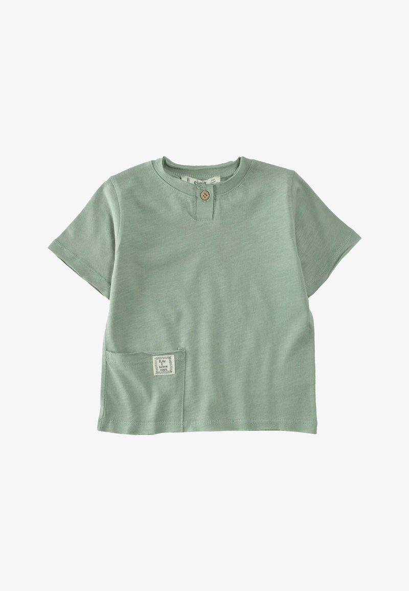 Cigit - Basic T-shirt - metallic green