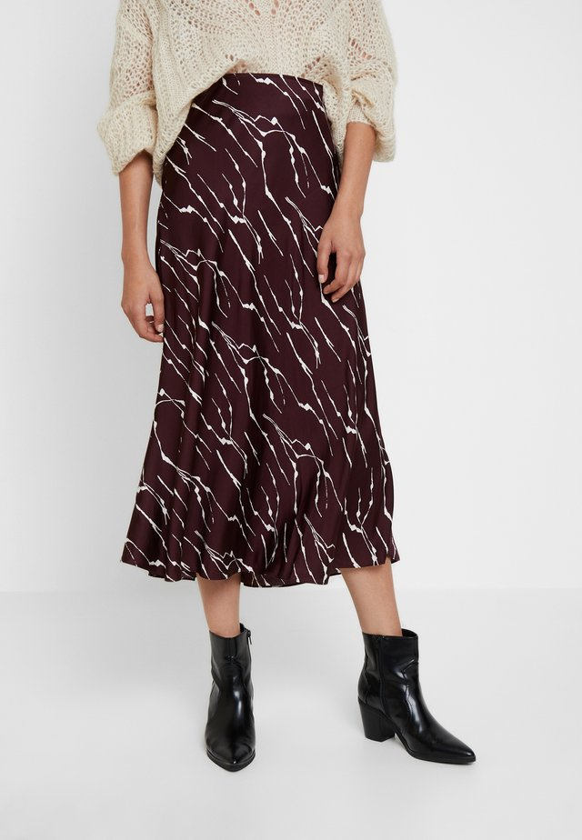 TWIG BIAS SKIRT - A-line skirt - burgundy