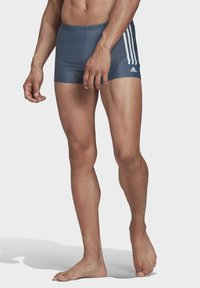 adidas Performance - SEMI 3-STRIPES SWIM BRIEFS - Bañador - green