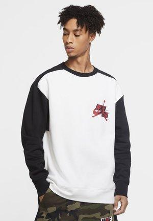 CREW - Sweatshirt - white/black/black