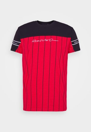 YEZ TEE - T-shirt print - black/red