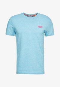 Superdry - FLURO GRIT TEE - T-shirt basic - fluro blue grit - 3
