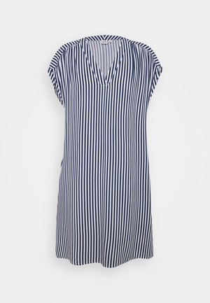 DRESS - Day dress - blue/white