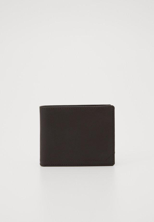 LEATHER - Lommebok - dark brown