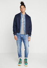 Calvin Klein Jeans - MONOGRAM FRONT LOGO SLIM - Print T-shirt - grey - 1