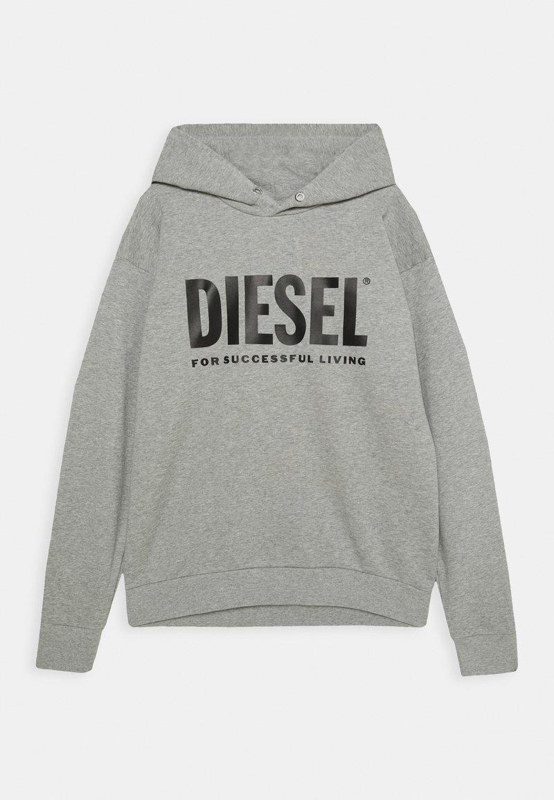 Diesel - SDIVISION-LOGO OVER - Hoodie - grigio melange nuovo