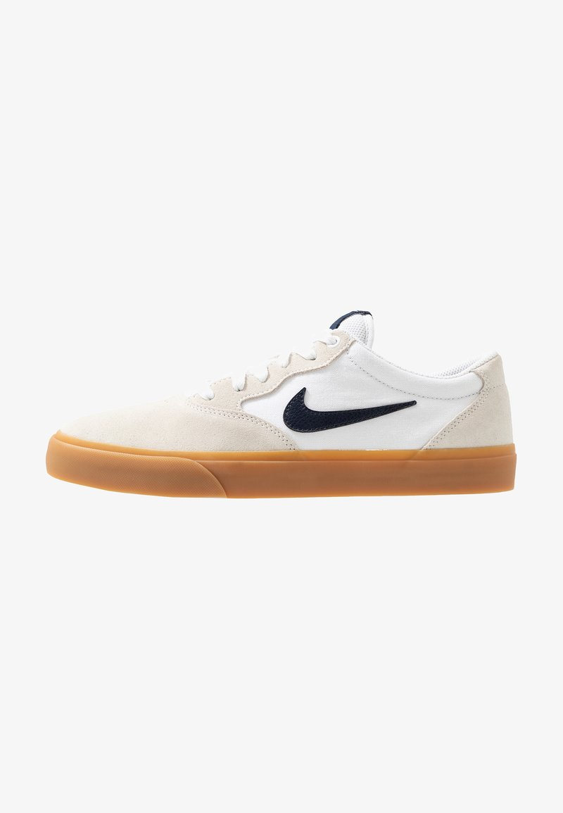 Nike SB - NIKE CHRON - Sneakers - white/light brown/black/photo blue/hyper pink