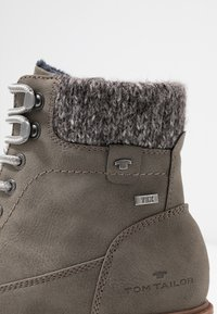 TOM TAILOR - Lace-up ankle boots - mud - 2
