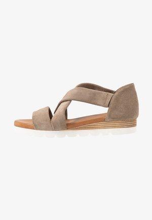 LEATHER  - Platform sandals - beige