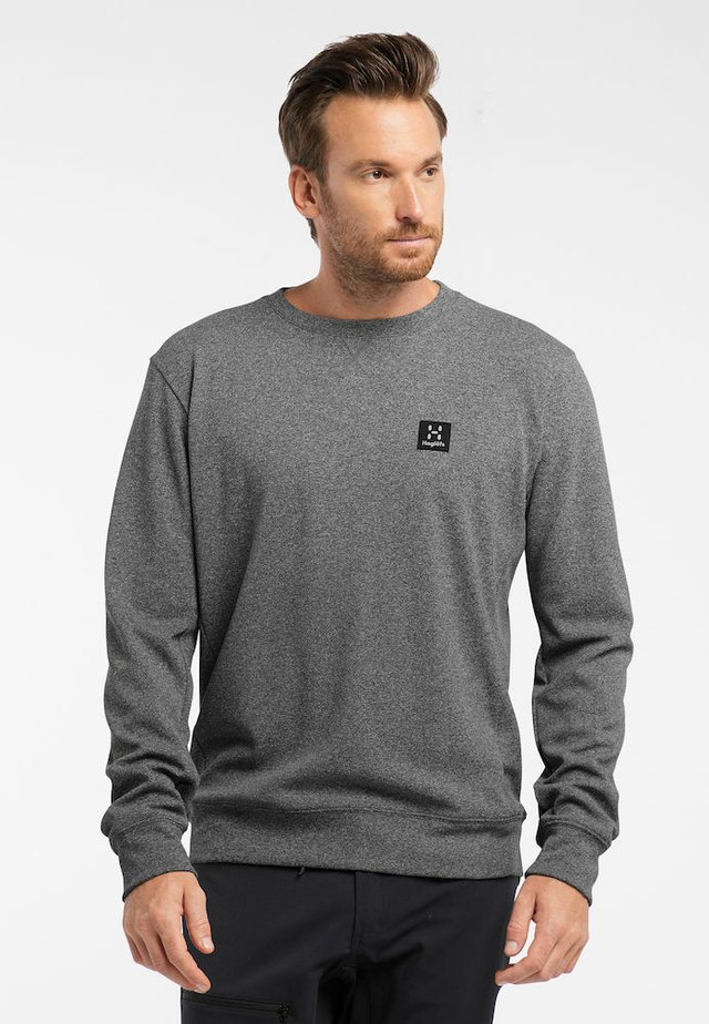 H CREW NECK - Sweatshirt - grey melange