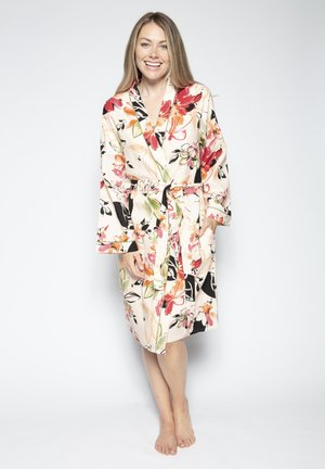 Dressing gown - peach floral