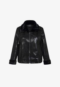 SPG Woman - Imitatieleren jas - black - 4