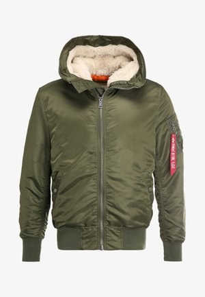 HOODED STANDART FIT - Giacca da mezza stagione - dark green