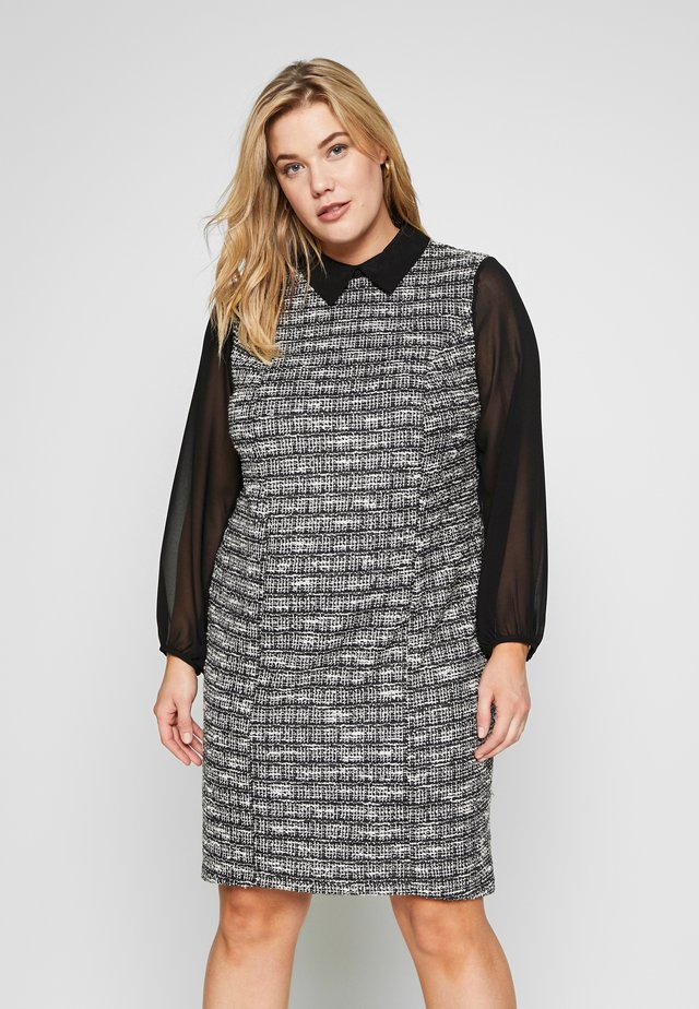 TEXTURED 2IN1 - Denní šaty - black/white