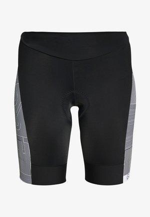 DAMEN LINE KURZ - Leggings - black/white