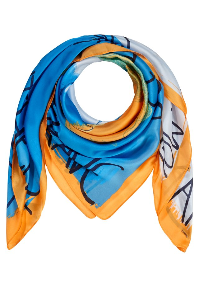 SATIN - Scarf - turquoise placed print