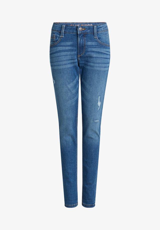 MET SLIJTAGEDETAILS - Jeans slim fit - blue