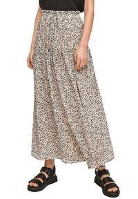 Q/S designed by - Maxi skirt - beige aop - 3