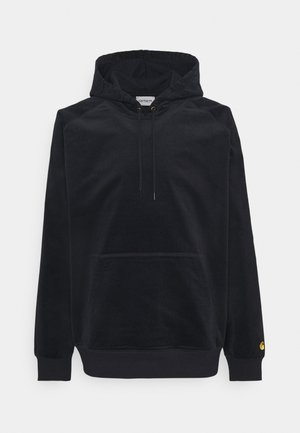 HOODED CORD SWEATSHIRT - Hoodie - dark navy/gold