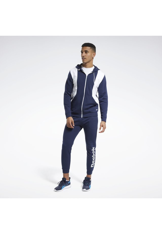 TRAINING ESSENTIALS LINEAR LOGO TRACKSUIT - Tracksuit - blue