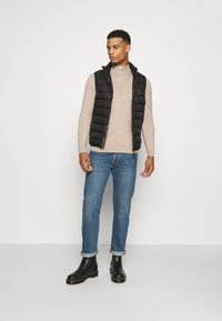 Burton Menswear London - CORE HALF ZIP - Trui - ecru - 1
