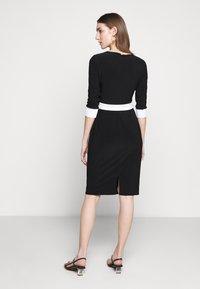 Lauren Ralph Lauren - CLASSIC TONE DRESS - Jerseyklänning - black/white - 2