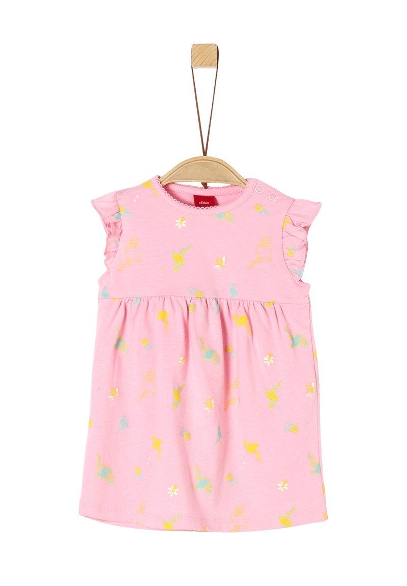 s.Oliver - Jersey dress - light pink aop