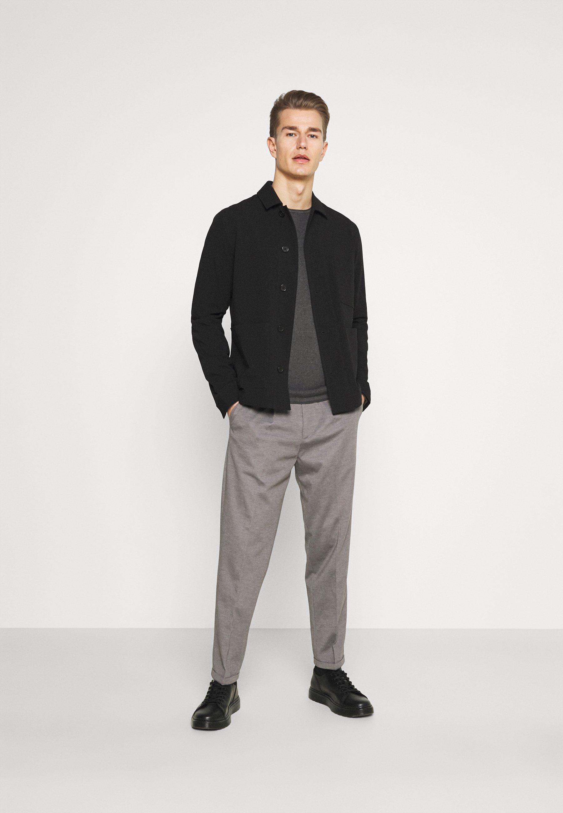 Homme ZIGZAG STRUCTURED CREWNECK - Pullover