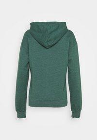 Even&Odd - BASIC - Regular fit hoodie jacket with pockets - Zip-up hoodie - mottled teal - 1